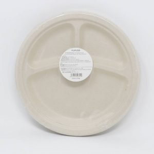 9 Inch Disposable 3-Compartment Plates